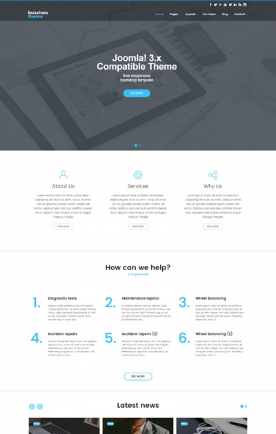 Clean Business & Corporate Free Joomla 3 Template